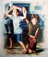 Crianças vendedores de balas